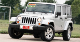 2009 Jeep Wrangler Unlimited Sahara, 4×4, NAV, Hard Top, Towing Package, Fog Lights, Alloy Wheels